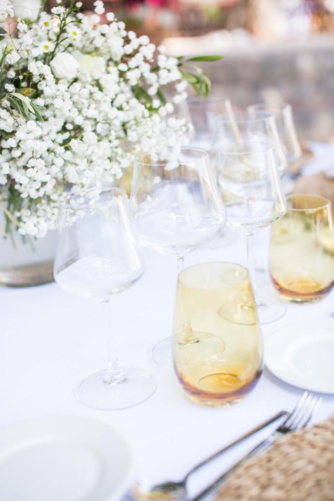 Mallorca Wedding, Mallorca wedding Photographer, Soller Wedding photographer, yellow table glasses