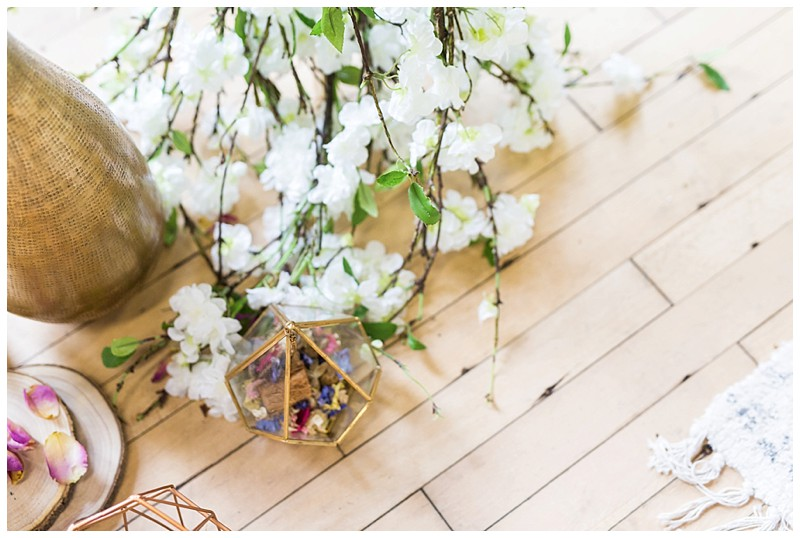 boho Wedding Persian Rugs Floral arch