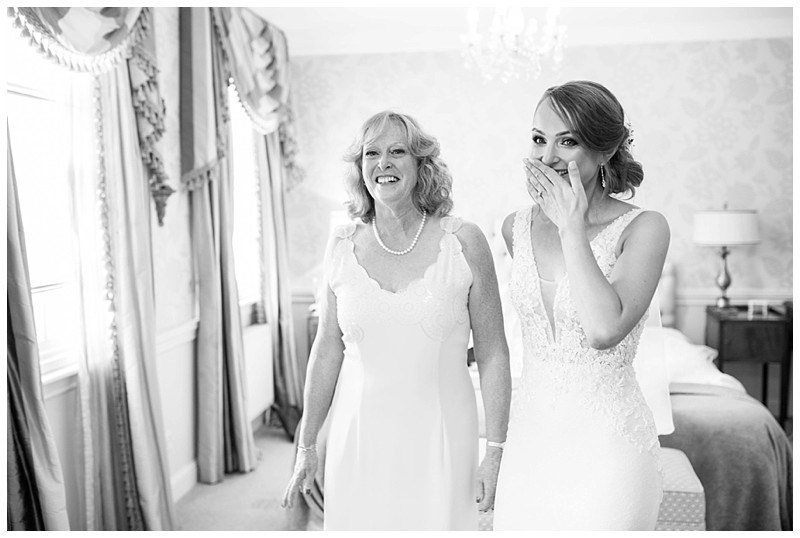 bride getting dressed, smiling bride, mother of the bride