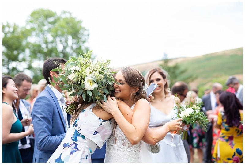 losehill wedding, peak district wedding, summer wedding, confetti