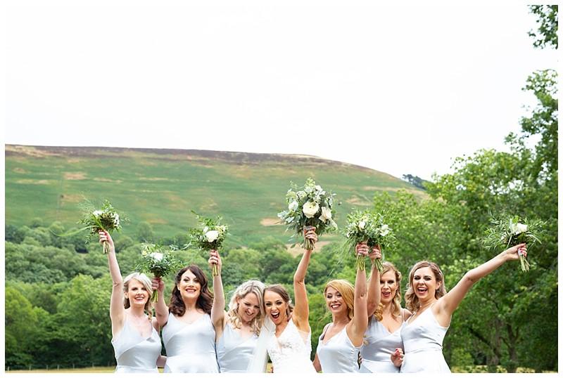 losehill weddings, bridal party shots