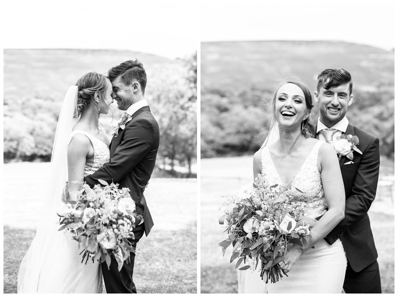bride and groom wedding pictures losehill hotel and spa