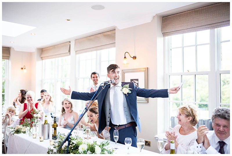 wedding speeches, losehill hotel and spa