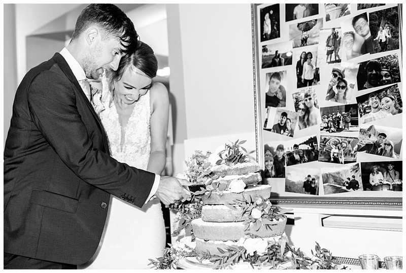 cake cutting at losehill hotel and spa