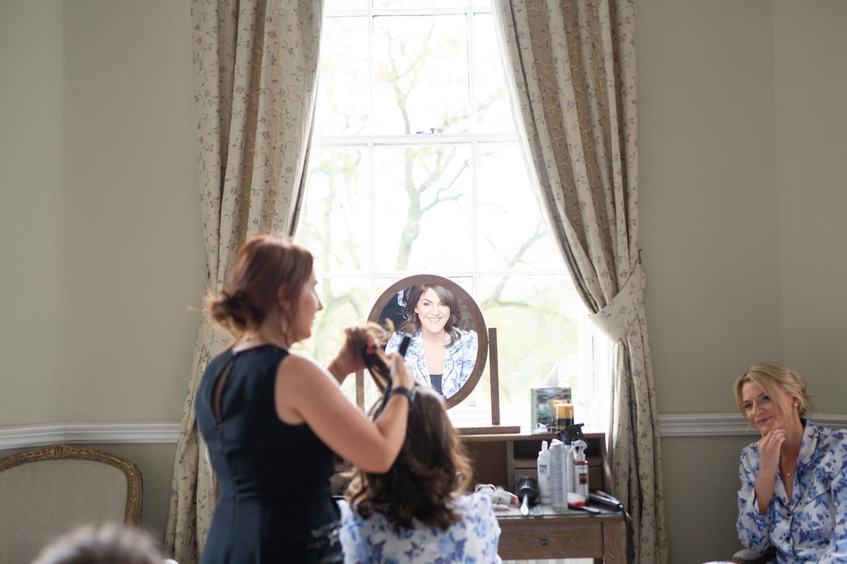 Middleton Lodge Wedding Photographer, wedding prep, bridesmaids
