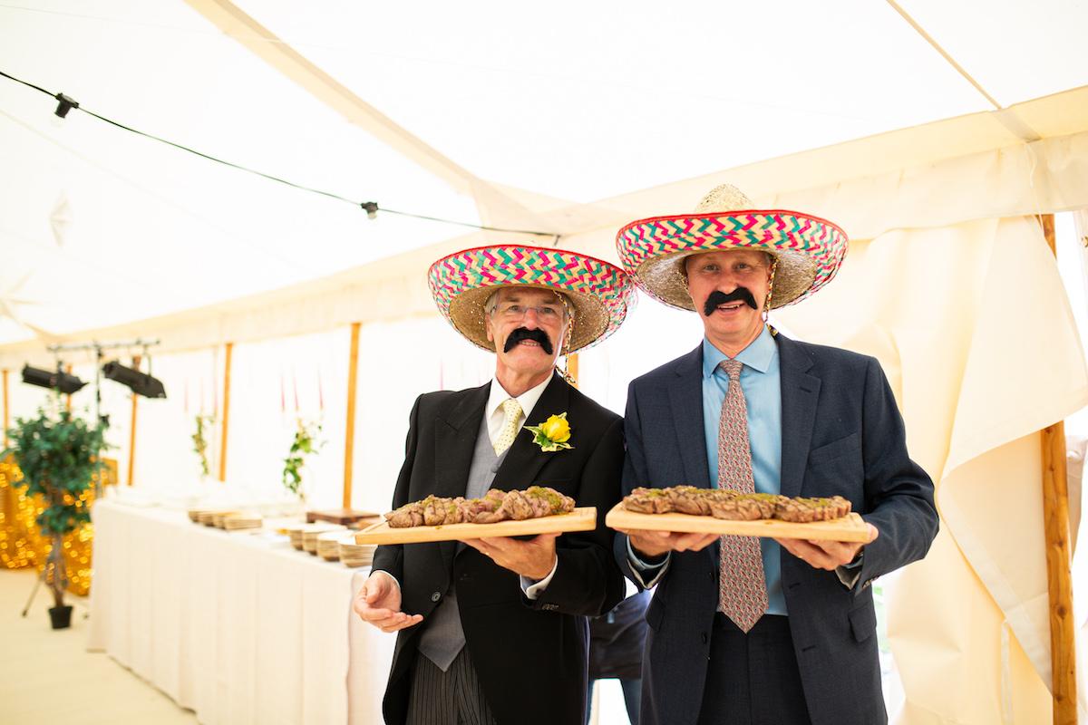 Boho Garden Wedding servers