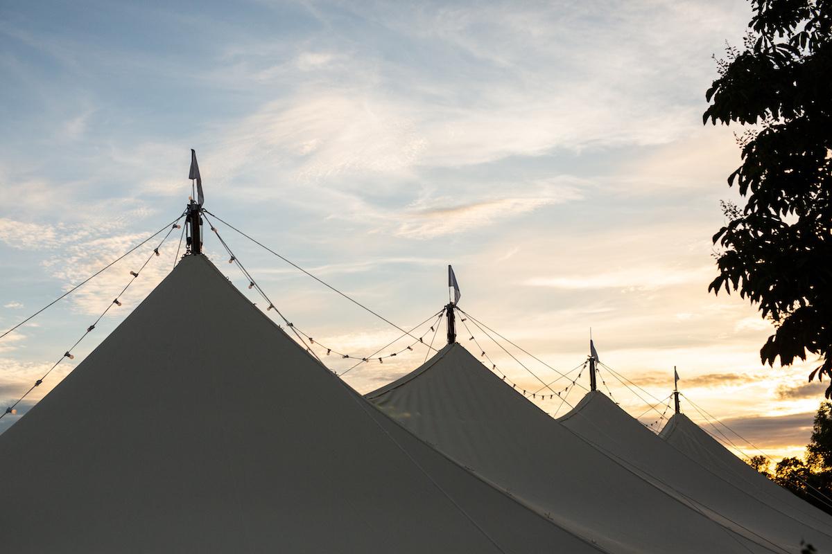 Boho Garden Wedding sail tent