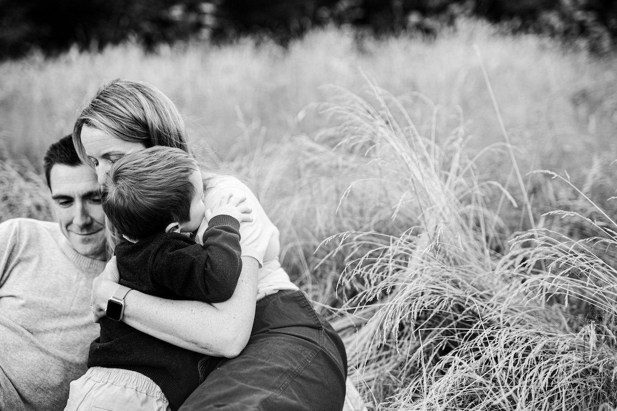 cuddles in grass