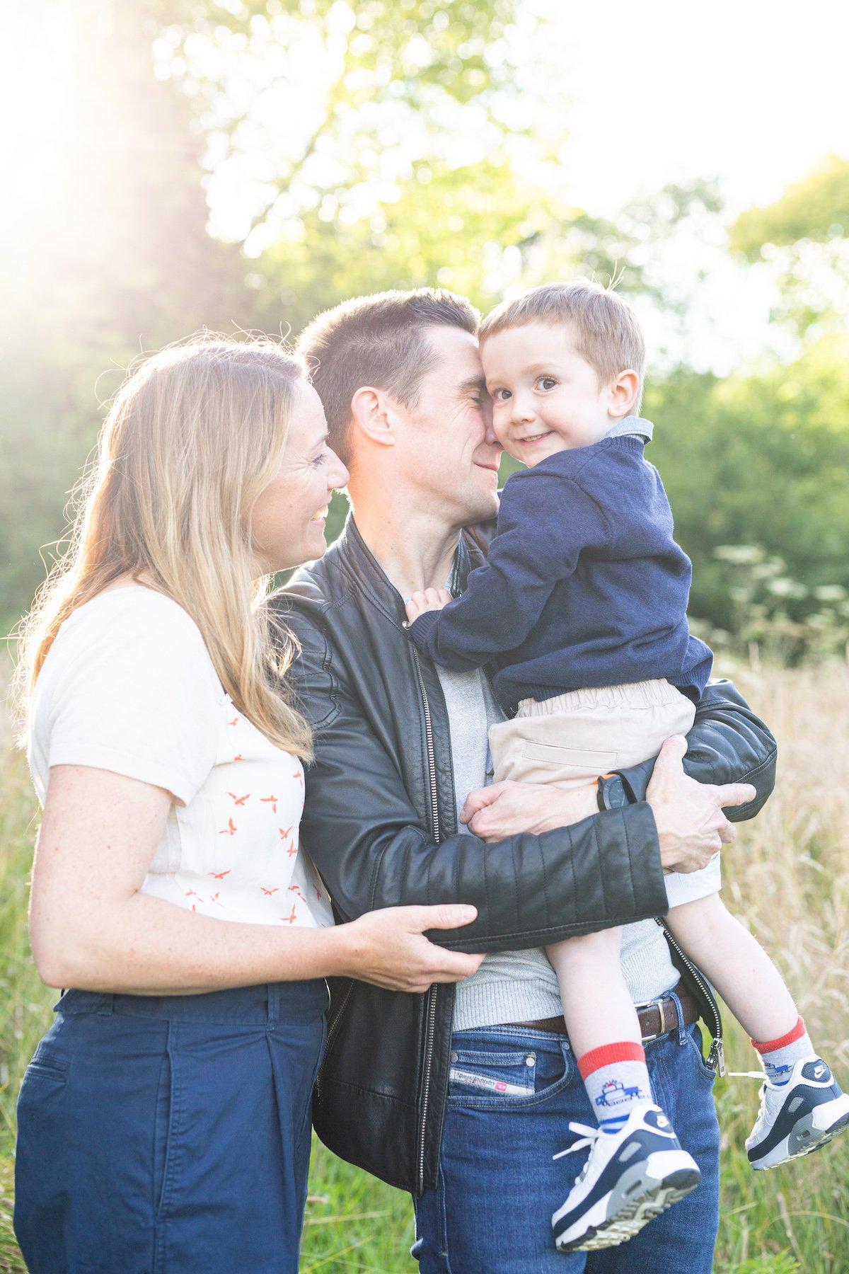 family cuddle portrait