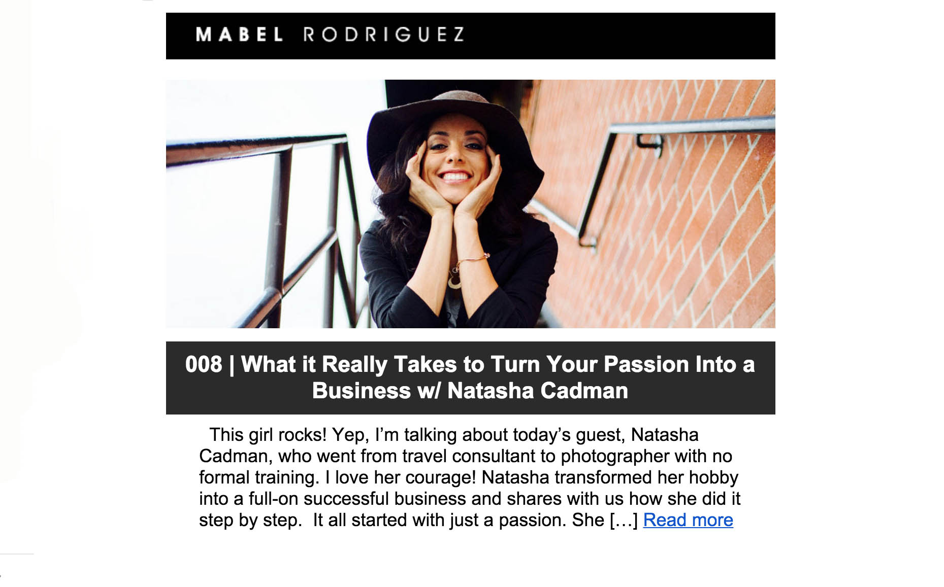 Turning your passion into a business podcast.
