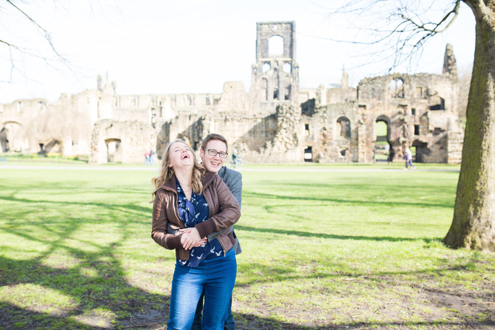 Kirkstall Abbey Engagement Shoot: Ben & Jen