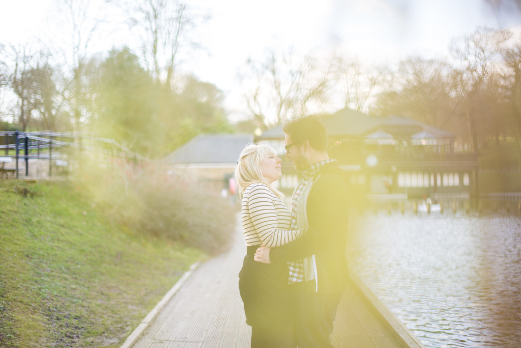 Roundhay Park engagement Shoot