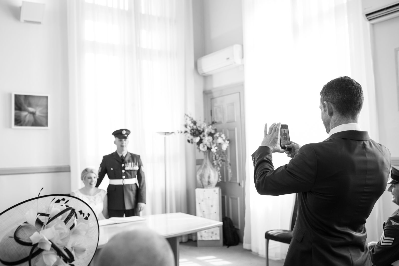 Guests with  cameras at weddings.