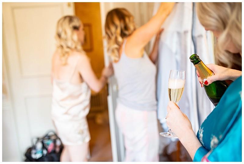 champagne, wedding preparation