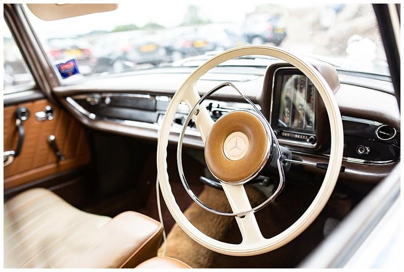 vintage mercedes, mercedes wedding car