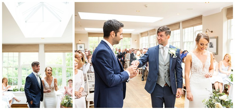Exchanging of the rings, losehill weddding, peak district wedding