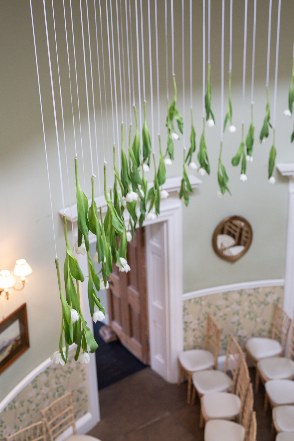 Middleton Lodge Wedding Photographer, Wedding flowers middleton lodge, hanging tulips