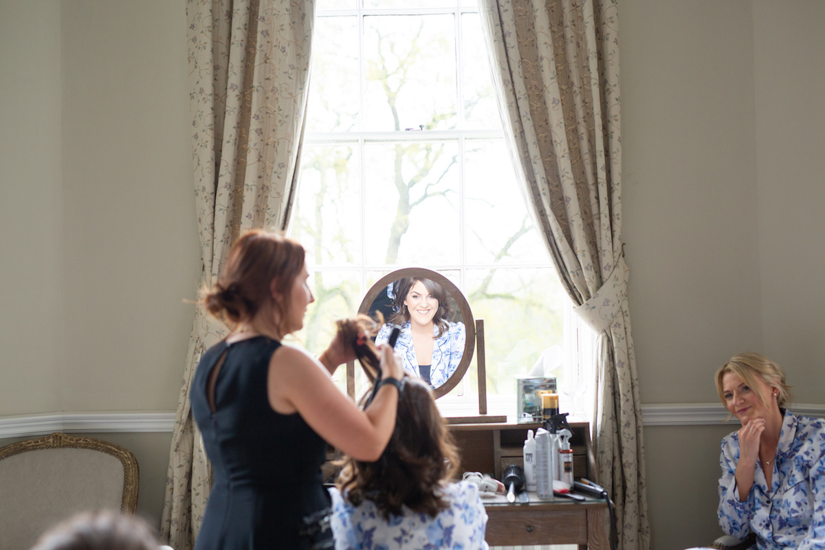 Middleton Lodge Wedding Photographer, wedding prep, bridesmaids