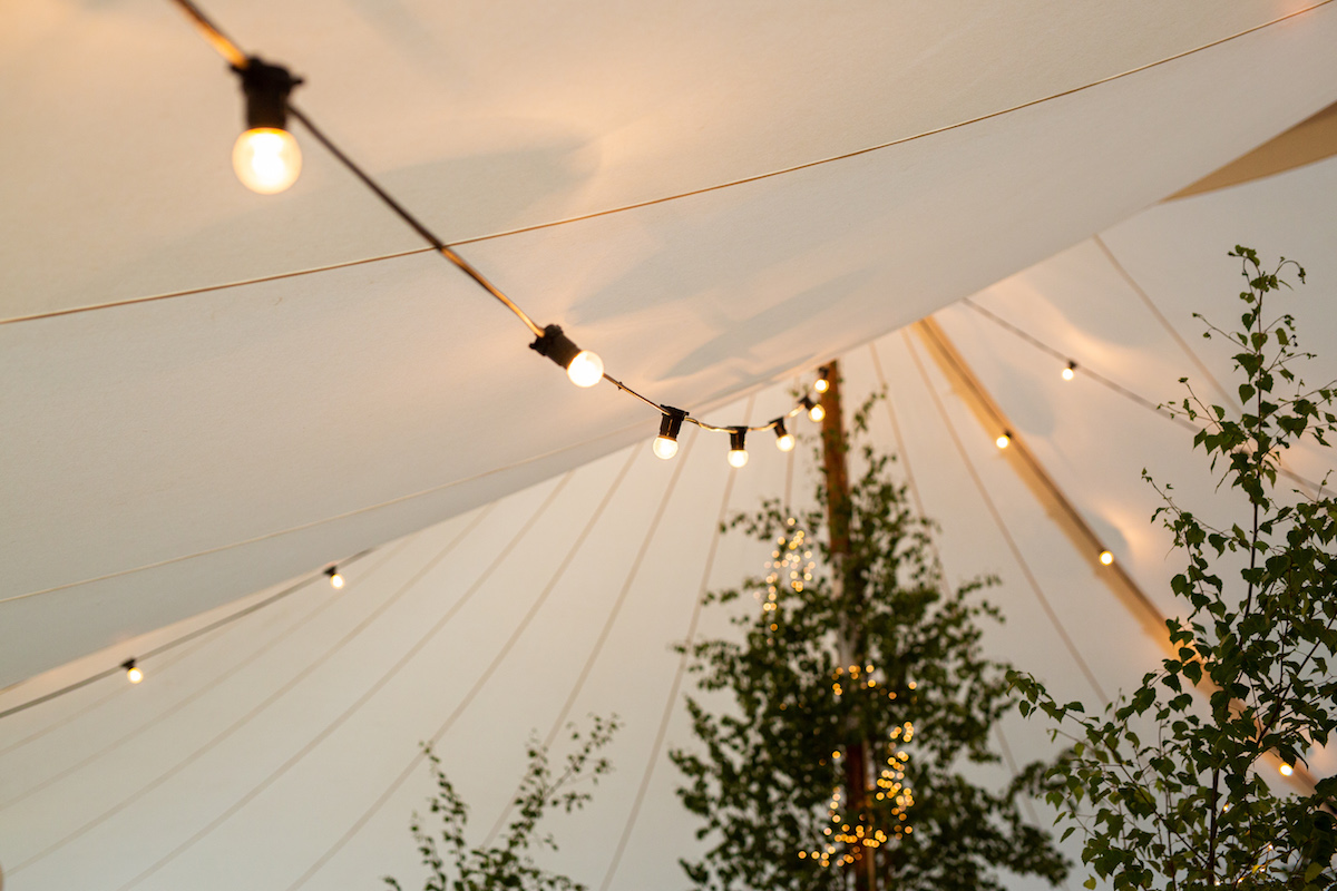 Boho Garden Wedding lighting