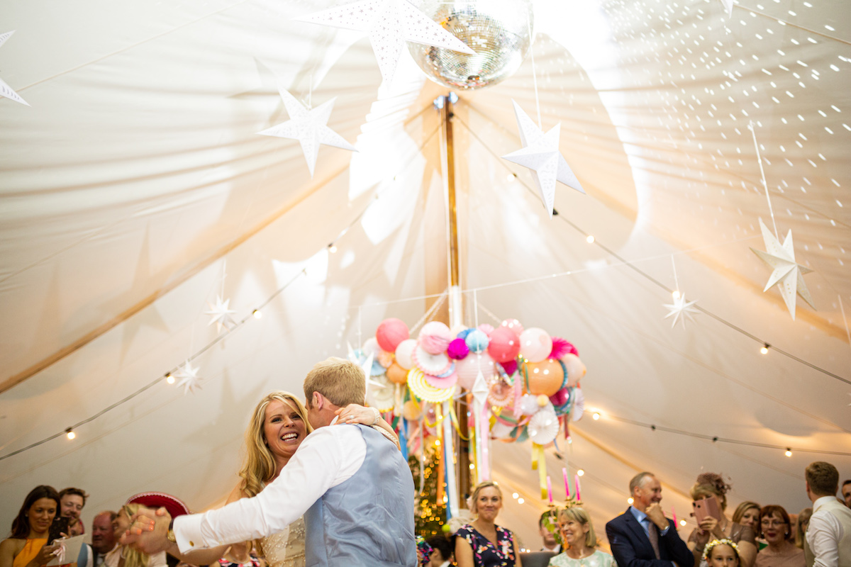 Boho Garden Wedding first dance