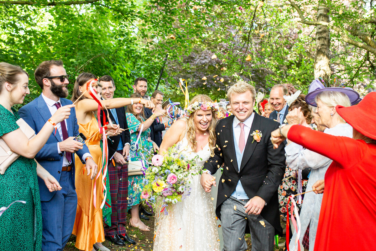 Boho Garden Wedding confetti
