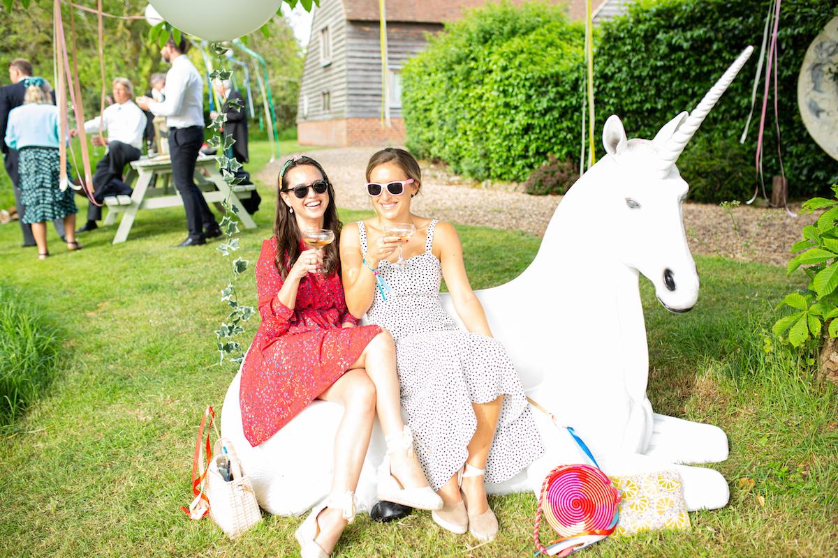 Boho Garden Wedding unicorn
