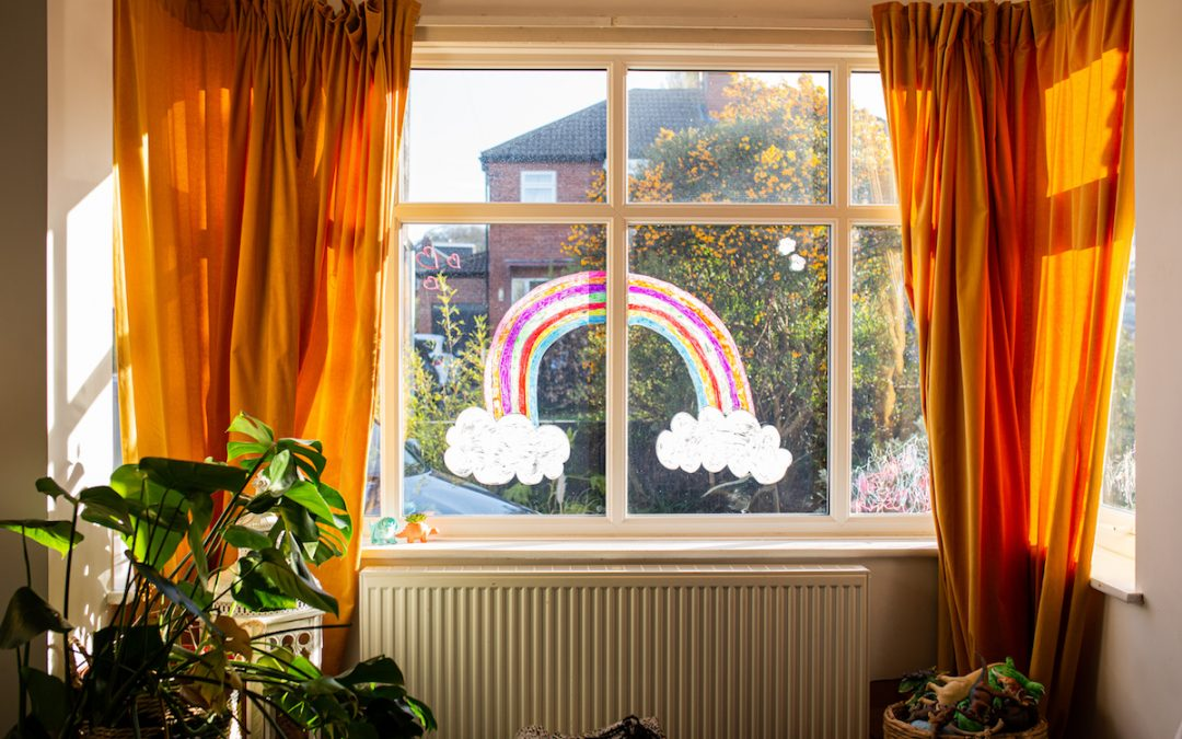 stay at home rainbow